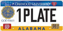 OU License Plate